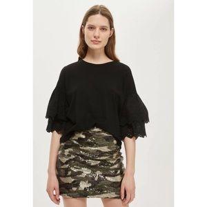 Romeo & Juliet Couture Camo Mini Skirt